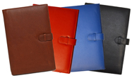 Multi-color soft leather journals